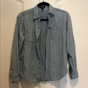 ❤️Used boys Polo Ralph Lauren denim shirt sz Med